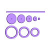 M1-GEAR-SET.STL Download 3MF file Mini Spur Gears Metric Set 3D print model • 3D printing model, RachidSW
