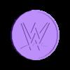 WWE_Coaster.stl Download free STL file WWE Logo Coaster • Design to 3D print, DraftingJake