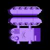 Ork tank hull with teeth.stl Télécharger fichier STL Ork Tank / Canon d'assaut 28mm optimisé pour FDM Printing • Modèle pour imprimante 3D, redstarkits