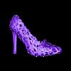 Zortrax_Voronoi_Heel_Right.stl Download free STL file Zortrax Voronoi Heels • 3D printer template, Zortrax