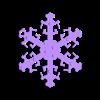 snowflake.stl Download free STL file Snowflake Ornament • 3D printer design, Vilereth