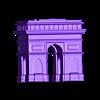 Arc_triomphe.stl Télécharger fichier STL gratuit Bâtiments célèbres de paris • Design pour imprimante 3D, leFabShop