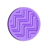 krazkiS2_zygzaki.stl Download free STL file Tactile discs game (series 2) • Model to 3D print, Ogrod3d