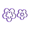 923 Flore de 5 Set.stl Download STL file Flower Cutter Set • 3D printable object, juanchininaiara