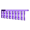 011_Screws.stl Download free STL file Combination Spanner Set 8pcs metric 8-19mm Wall Holder 011 I for screws or peg board • 3D printer model, Wiesemann1893