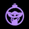 Bola base navidad Baby Yoda.stl Download STL file Christmas ball christmas Baby Yoda design • 3D print model, regata3dprint