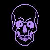 meSkull3.stl Descargar archivo STL Skull Wall (curves) • Diseño para impresión en 3D, miguelonmex