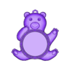 bear3lito_fixed.stl Download free STL file Customizable teddy bear key ring tutorial • Object to 3D print, 3dlito