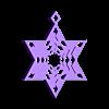 star_of_david2.stl Télécharger fichier STL gratuit Flocon de neige Étoile de l'arbre David Ornement d'ornement • Design imprimable en 3D, Cilshell