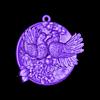 Doves pendant medallion jewelry.obj Download free OBJ file Doves pendant medallion jewelry 3D print model • 3D print object, Cadagency