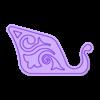 SLEIGH RIGHT SIDE 2.stl Download free STL file Santa Sleigh • Object to 3D print, 3DPrintersaur