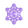 SnowFlake_slit.STL Download free STL file Snowflake • 3D printable object, Jeyill3