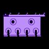 Pins.stl Download free STL file TX Screwdriver Set 6pcs Holder for Wall 058 I for screws or peg board • 3D print template, Wiesemann1893