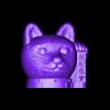 cat_head_supports_V2.stl Download free STL file Maneki-neko De-Capicat Head • 3D printing template, luisdamed