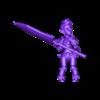barbarian_battle.OBJ Download free OBJ file [Free] Girl Barbarian • 3D print template, warpentak