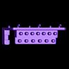 """Ratsche%2BBits.stl Télécharger fichier STL gratuit Support pour jeu de clés à douille 28pcs 1/4"""" avec barre de rallonge et douilles pour support mural 007 • Modèle imprimable en 3D, Wiesemann1893"""