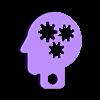 Mozg_keychain.stl Download free STL file Mozg keychain • Design to 3D print, shuranikishin