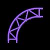 Truss 4 Punkt Traverse GWK3011 Bogen (x4).stl Download STL file 1:18 Truss 4 Punkt Traverse Messestand ZSB1000 • Template to 3D print, CrossModellbau