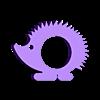 zookins-hedgehog.stl Télécharger fichier STL gratuit Zookins - les animaux ronds de Serviette • Plan à imprimer en 3D, Cults