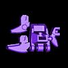 49_Drag_Hand11_FistLeft_GREY.stl Download STL file ARTICULATED DRAGONLORD (not Dragonzord) - NO SUPPORT • 3D printer model, Toymakr3D