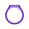 Hexa-signet-pavé.STL Download 3MF file Hexagonal slot low profile signet ring 3D print model • 3D printable model, RachidSW