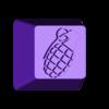 granade_KEYCAP.stl Télécharger fichier STL gratuit 7 Capuchons pour clavier mécanique - CS GO Edition • Plan à imprimer en 3D, HIKO3D