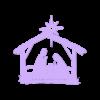 meNacimiento1en.stl Descargar archivo STL gratis El nacimiento de Jesús. Montado en la pared • Objeto para imprimir en 3D, miguelonmex