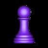peón.STL Télécharger fichier STL gratuit échecs complets • Plan pour imprimante 3D, montenegromateo111