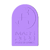 Mars2020_vertical.stl Télécharger fichier STL gratuit Plaque de persévérance Mars 2020 • Plan pour imprimante 3D, Hazendonk