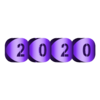 2020-2021_balls.stl Download free STL file 2020 - 2021 Flipped text Balls • 3D printable template, ro3dstudio