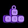 WASD.stl Télécharger fichier STL WASD Jouons au porte-clés • Plan pour impression 3D, EliGreen