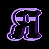 R.stl Download STL file sharp letters Cooper Black • 3D printing model, juanchininaiara
