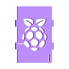 customizable_image_top_2014-08-26_20140825-3211-1pywllz-0.stl Download free STL file Raspberry logo - Improved customizable Top cover case for the Raspberry Pi • Design to 3D print, eried