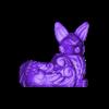 NIGHT FOX PLANTER.stl Download OBJ file Night Forest Fern Fox Planter - STL for 3D Printing • 3D print model, FabioDiazCastro