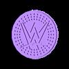 WWE_Coaster_New.stl Download free STL file WWE Logo Coaster • Design to 3D print, DraftingJake