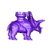 penta_castle_v3_flatfoot.stl Download free STL file Battle dinosaur 1 • 3D printer design, Cults