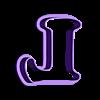 L.stl Download STL file sharp letters Cooper Black • 3D printing model, juanchininaiara