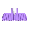 Movember_Final_1.stl Download free STL file Movember Stache Combs • 3D printable template, 3DBROOKLYN