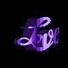 flip_love.stl Télécharger fichier STL gratuit Flippin Love • Plan pour impression 3D, ScooterPDX