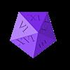 dice_top.stl Télécharger fichier STL gratuit 1d20 de Holding • Design pour imprimante 3D, Yipham