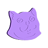 cat_head.STL Download free STL file party parrot automata • 3D printable design, melonshu