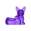 NIGHT FOX PLANTER.obj Download OBJ file Night Forest Fern Fox Planter - STL for 3D Printing • 3D print model, FabioDiazCastro