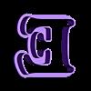 E.stl Download STL file sharp letters Cooper Black • 3D printing model, juanchininaiara