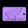 honda_keychain.stl Télécharger fichier STL gratuit Porte-clés Honda • Objet à imprimer en 3D, Morcelkin