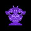 Demon Head + Base STL.stl Télécharger fichier OBJ Modèle d'impression 3D du buste du démon • Design imprimable en 3D, belksasar3dprint