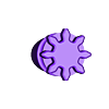 """Sol_B_t8.stl Télécharger fichier STL gratuit """"Toupie """"mécanique • Plan pour imprimante 3D, SiberK"""