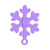 flake1.STL Download free STL file Dainty Snowflake Xmas Ornament • 3D printer object, Odrenria