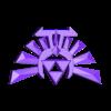 hyrule-crest-nostands.stl Télécharger fichier STL gratuit Zelda Hyrule Crest - Mors de pied sur pied - Impression à plat • Plan pour imprimante 3D, Reshea