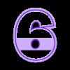 6.stl Télécharger fichier STL Numéros des moules à biscuits • Plan imprimable en 3D, Ushuaia3D