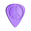 PeaceGuitarPick.stl Download free STL file GuitarPicks(part2) • 3D printer object, Digitang3D